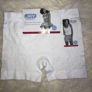 Jockey - white slip short size M